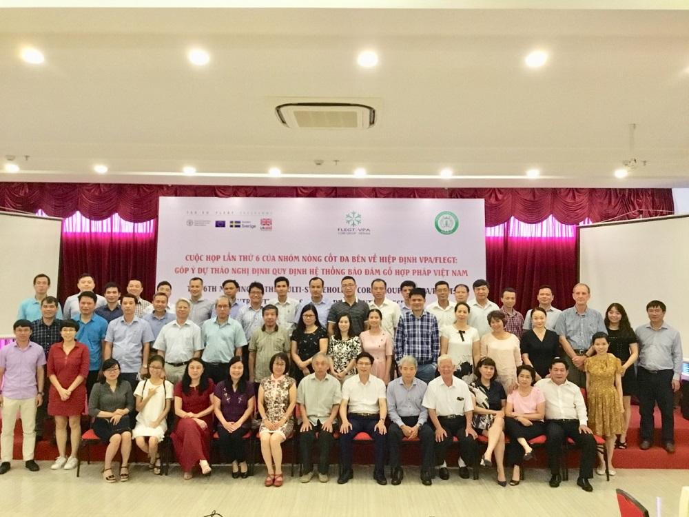 Nhóm nòng cốt đa bên về VPA/FLEGT họp lần thứ 6